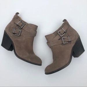 NWOB Sole Society Suede Buckle Bootie Size 8B